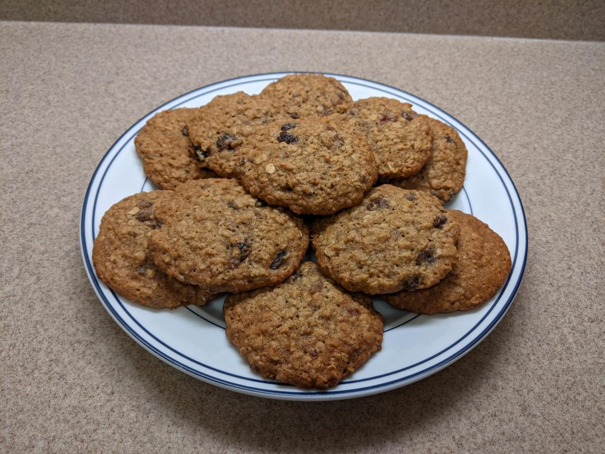 Week 6: Vanishing Oatmeal Raisin Cookies from QuakerOats.